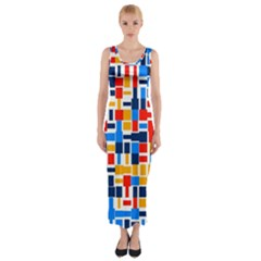 Colorful Shapes                                  Fitted Maxi Dress
