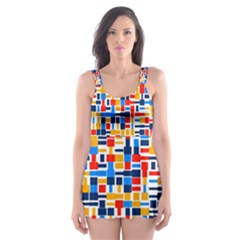 Colorful Shapes                                  Skater Dress Swimsuit