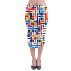 Colorful shapes                                    Midi Pencil Skirt