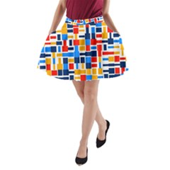 Colorful Shapes                                  A Line Pocket Skirt