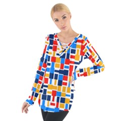 Colorful Shapes                                   Women s Tie Up Tee