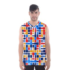 Colorful shapes                                  Men s Basketball Tank Top