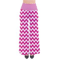 Hot Pink & White Zigzag Pattern Pants