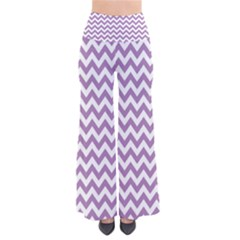 Lilac Purple & White Zigzag Pattern Pants
