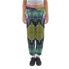 Purple Yellow Stone Abstract Women s Jogger Sweatpants