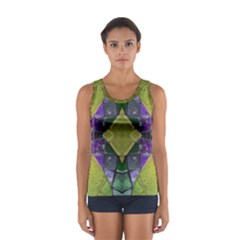 Purple Yellow Stone Abstract Tops