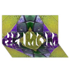 Purple Yellow Stone Abstract #1 MOM 3D Greeting Cards (8x4)