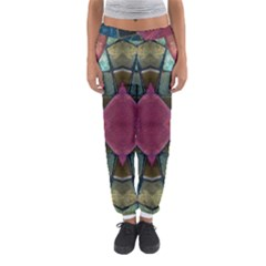 Pink Turquoise Stone Abstract Women s Jogger Sweatpants