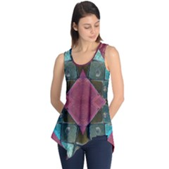 Pink Turquoise Stone Abstract Sleeveless Tunic