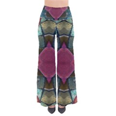 Pink Turquoise Stone Abstract Pants