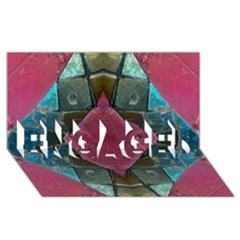 Pink Turquoise Stone Abstract ENGAGED 3D Greeting Card (8x4)