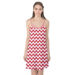 Poppy Red & White Zigzag Pattern Camis Nightgown