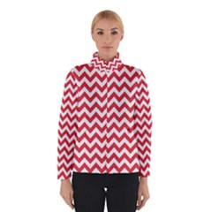 Poppy Red & White Zigzag Pattern Winterwear