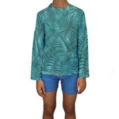 Tropical Hawaiian Print Kid s Long Sleeve Swimwear