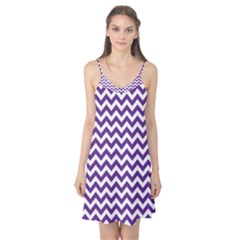 Royal Purple & White Zigzag Pattern Camis Nightgown