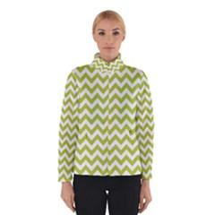 Spring Green & White Zigzag Pattern Winterwear