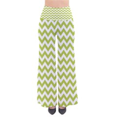 Spring Green & White Zigzag Pattern Pants