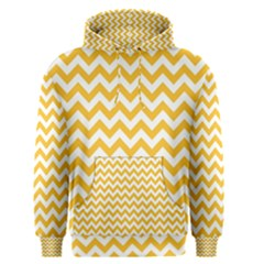 Sunny Yellow & White Zigzag Pattern Men s Pullover Hoodie