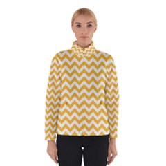 Sunny Yellow & White Zigzag Pattern Winterwear