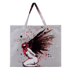 Dominance Zipper Large Tote Bag