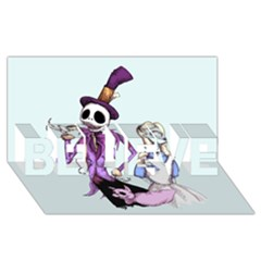 Nightmare In Wonderland  BELIEVE 3D Greeting Card (8x4)