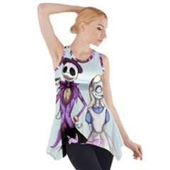 Nightmare In Wonderland  Side Drop Tank Tunic