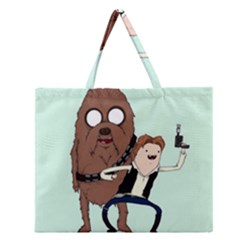 Space Adventure! Mans Best Friend Zipper Large Tote Bag