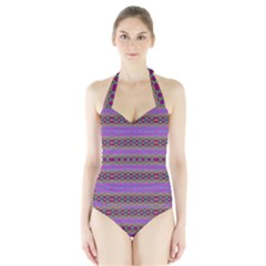DANCE HALL Women s Halter One Piece Swimsuit