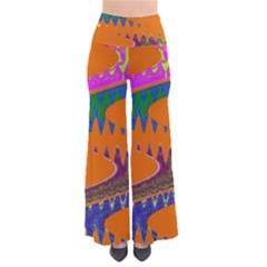 Colorful Wave Orange Abstract Pants