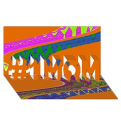 Colorful Wave Orange Abstract #1 MOM 3D Greeting Cards (8x4)