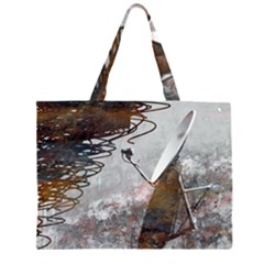 Communication Breakdown Large Tote Bag