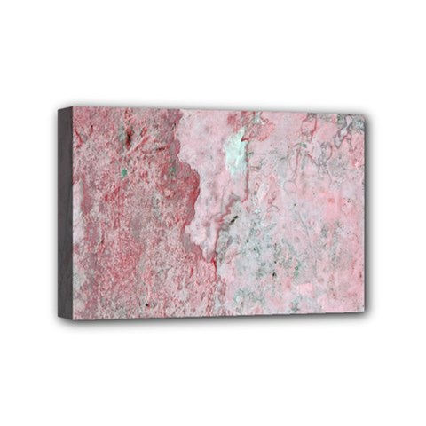 Coral Pink Abstract Background Texture Mini Canvas 6  x 4  (Stretched)