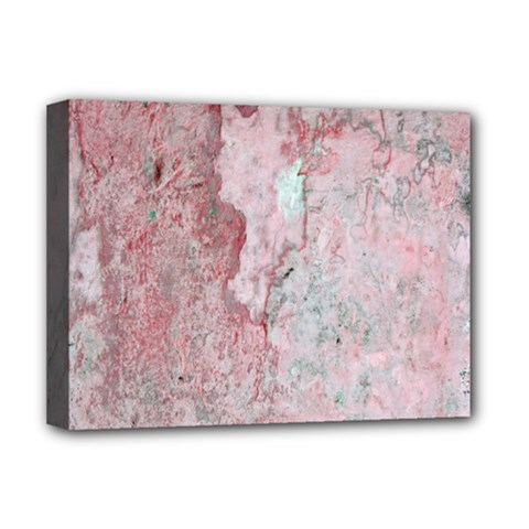 Coral Pink Abstract Background Texture Deluxe Canvas 16  x 12  (Stretched)