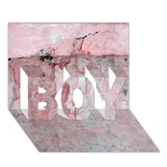 Coral Pink Abstract Background Texture BOY 3D Greeting Card (7x5)