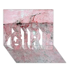 Coral Pink Abstract Background Texture GIRL 3D Greeting Card (7x5)