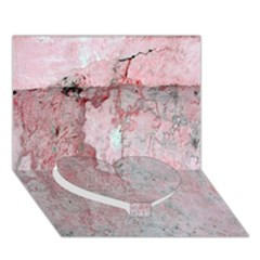 Coral Pink Abstract Background Texture Heart Bottom 3D Greeting Card (7x5)