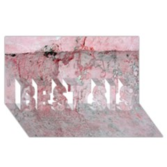 Coral Pink Abstract Background Texture BEST SIS 3D Greeting Card (8x4)