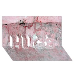 Coral Pink Abstract Background Texture HUGS 3D Greeting Card (8x4)