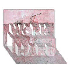 Coral Pink Abstract Background Texture WORK HARD 3D Greeting Card (7x5)