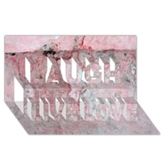 Coral Pink Abstract Background Texture Laugh Live Love 3d Greeting Card (8x4)