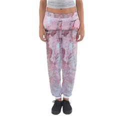 Coral Pink Abstract Background Texture Women s Jogger Sweatpants