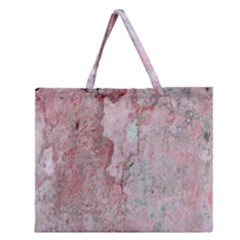 Coral Pink Abstract Background Texture Zipper Large Tote Bag