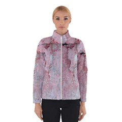 Coral Pink Abstract Background Texture Winter Jacket