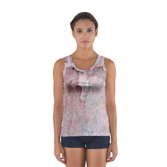 Coral Pink Abstract Background Texture Women s Sport Tank Top