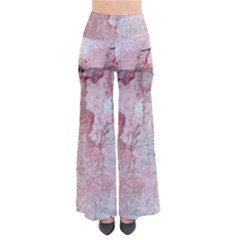 Coral Pink Abstract Background Texture Women s Chic Palazzo Pants