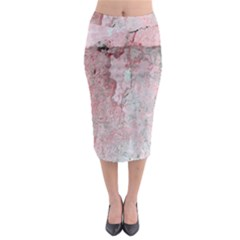 Coral Pink Abstract Background Texture Midi Pencil Skirt