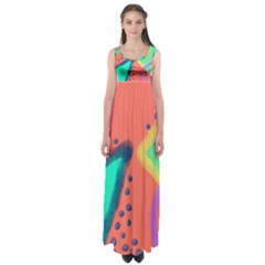 Colorful Abstract Art Empire Waist Maxi Dress