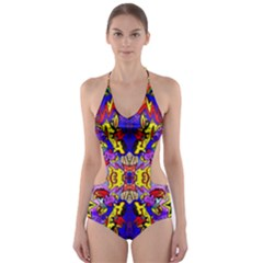 PSYCHO ONE Cut-Out One Piece Swimsuit