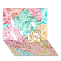 A Rose Is A Rose LOVE 3D Greeting Card (7x5)