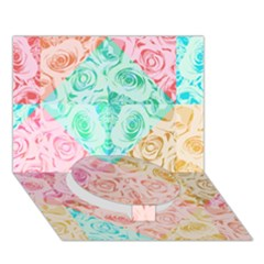 A Rose Is A Rose Circle Bottom 3D Greeting Card (7x5)